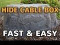 DekoRRa Model 117 Fake Rock Enclosure - Hide Cable Boxes, Pumps And More!
