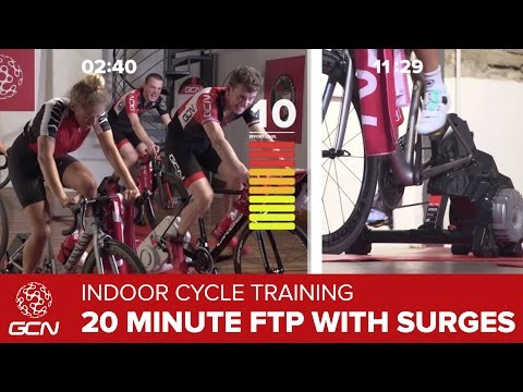 Indoor Cycling Training – 20 Minute FTP Session With Surges