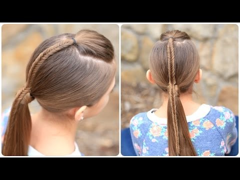 How to Create a Fishtail-Accented Ponytail - YouTube