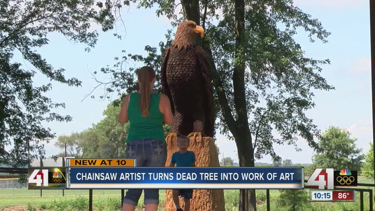 Chainsaw carver turns dead tree into artwork youtube
