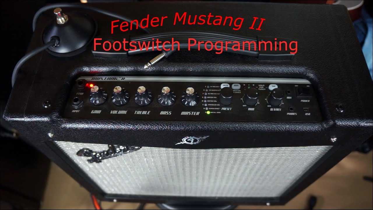 fender mustang ii footswitch programming youtube. Black Bedroom Furniture Sets. Home Design Ideas