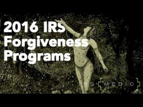 IRS Tax Debt Forgiveness Programs 2016 - YouTube