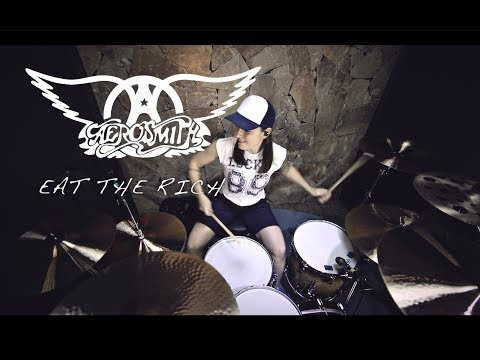Aerosmith - Eat the Rich (drum cover by Vicky Fates)