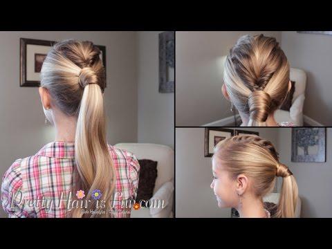 Mohawk Fishtail Braid Ponytail Tutorial Youtube