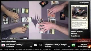 Pro Tour Magic Origins Round 2 (Draft) Shota Yasooka vs. Paulo Vitor Damo Da Rosa