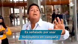 El abanderado de Redes Sociales Progresistas a la gubernatura de San Luis Potosí evade hablar sobre gastos de campaña