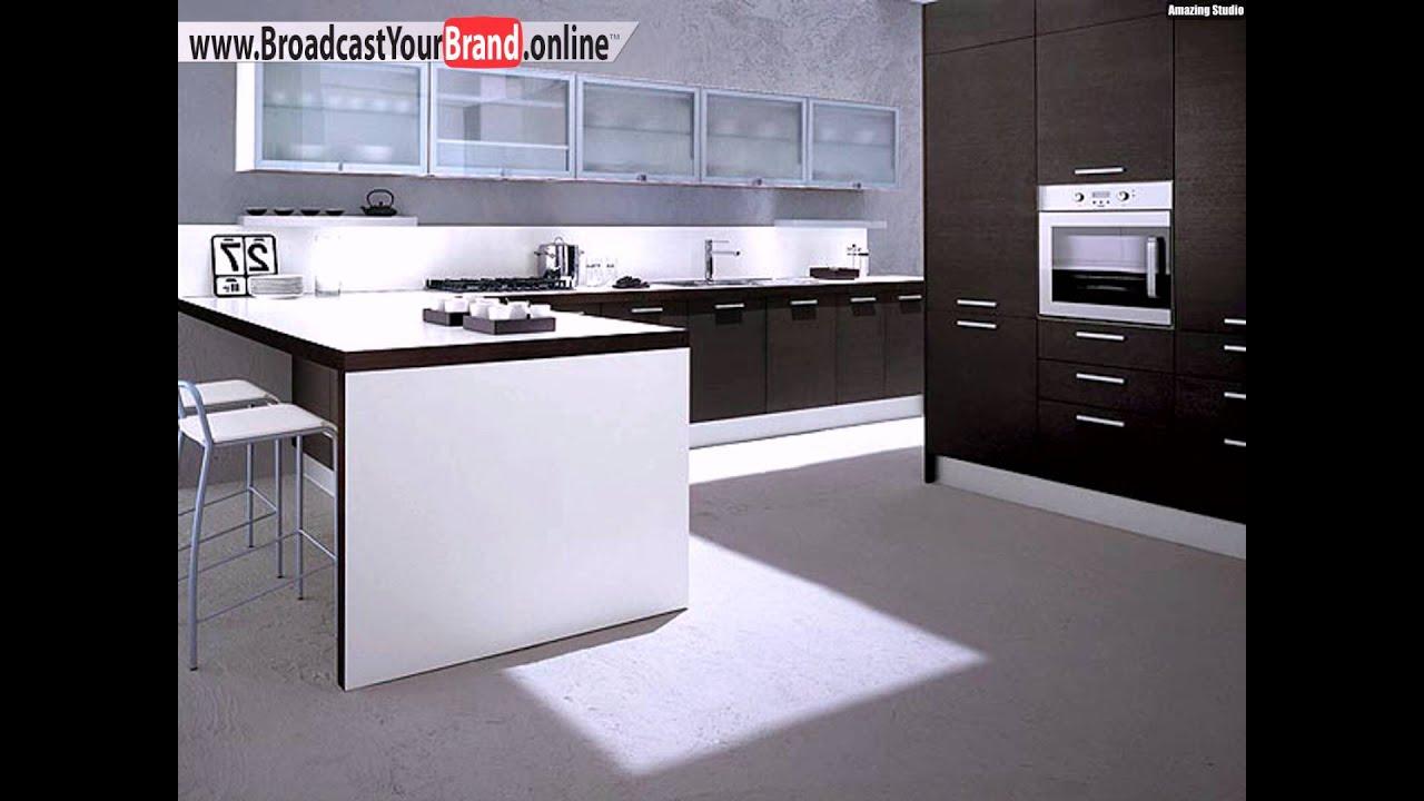 schwarz weiße küche design idee - youtube