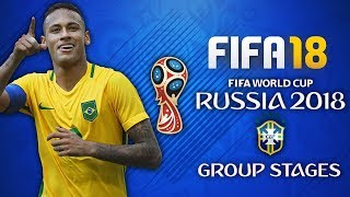 BRAZIL WORLD CUP PLAY THROUGH!! CAN NEYMAR WIN THE WORLD CUP?! - FIFA 18 World Cup Mode