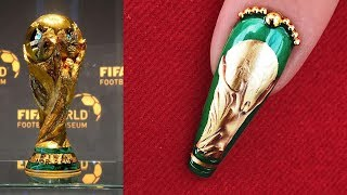 World Cup 2018 Nail Design - Easy Step by Step Tutorial