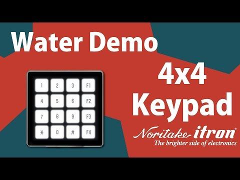 Noritake FLETAS: 4x4 Keypad Water Demo