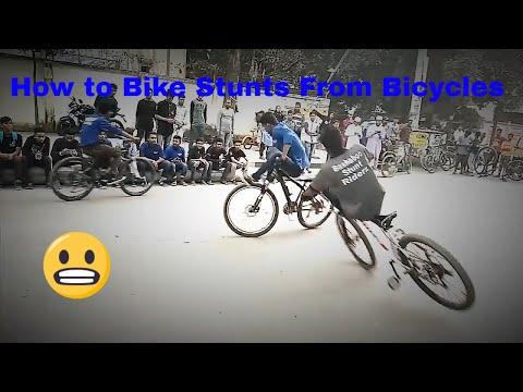 How to Bike Stunts From Bicycles? Cycle Stun? Fire Burnout & Stunnig Stunts on KTM Bike