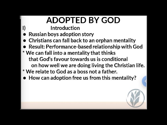 Sunday School 190804 · Adopted By God · Ross Kilfoyle · VBC Livestream
