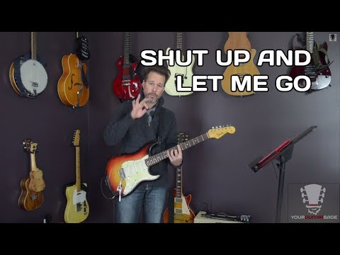 Shut Up and Let Me Go by The Ting Tings Guitar Lesson
