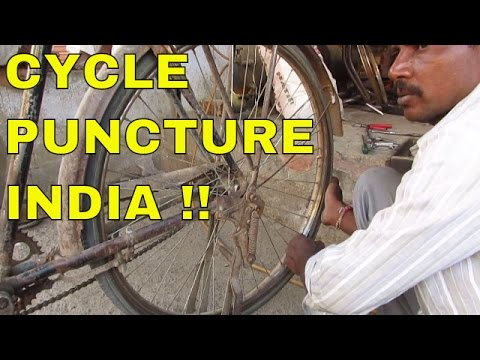 Repair A Cycle Puncture On The Roadside -...