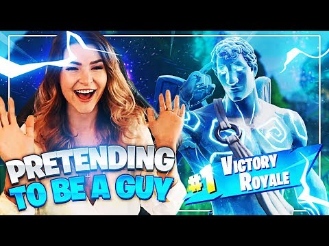 Pretending to be a guy on Fortnite... (THEY FELL FOR IT!) Fornite: Battle Royale | KittyPlays