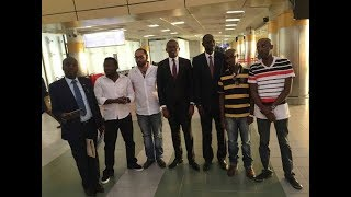 Emotional reunion as four Kenyans freed from South Sudan jet back
