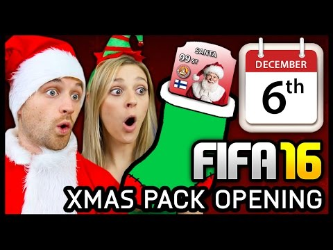 XMAS ADVENT CALENDAR PACK OPENING #6 - FIFA 16 ULTIMATE TEAM