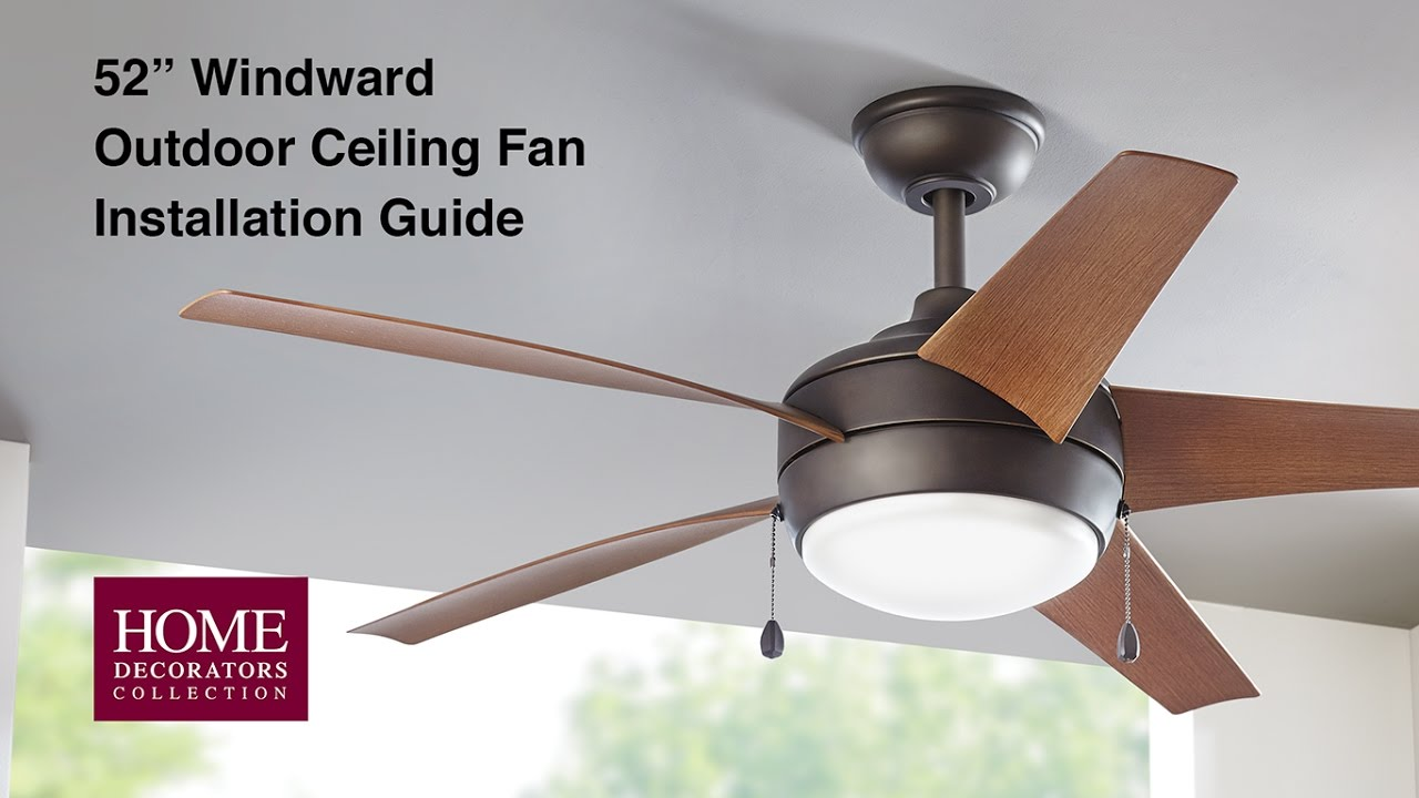 How to install the 52 in windward outdoor ceiling fan youtube how to install the 52 in windward outdoor ceiling fan aloadofball Images
