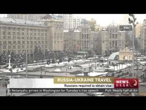 Russians traveling to Ukraine required to obtain visa
