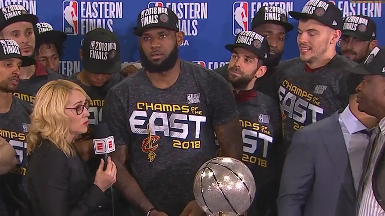 d34310f9aa9 Cleveland Cavaliers Trophy Celebration Ceremony - 2018 Eastern Conference  Champions!