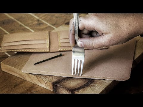 Can You Make a Leather Wallet WITHOUT Tools?