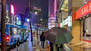[4K] Walk on a Rainy Night in …