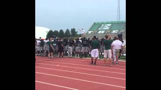 Football Team Learns The Fight Song