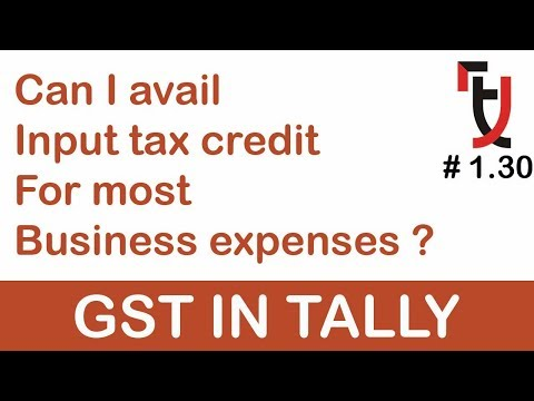 Input Tax credit on Business Expenses in tally #1.30 GST EXP
