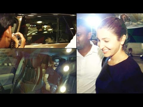 Anushka Sharma in car at Mumbai Airport, Watch video