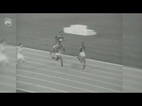 Tommie Smith Takes Home Gold In The Men's 200-meter Sprint