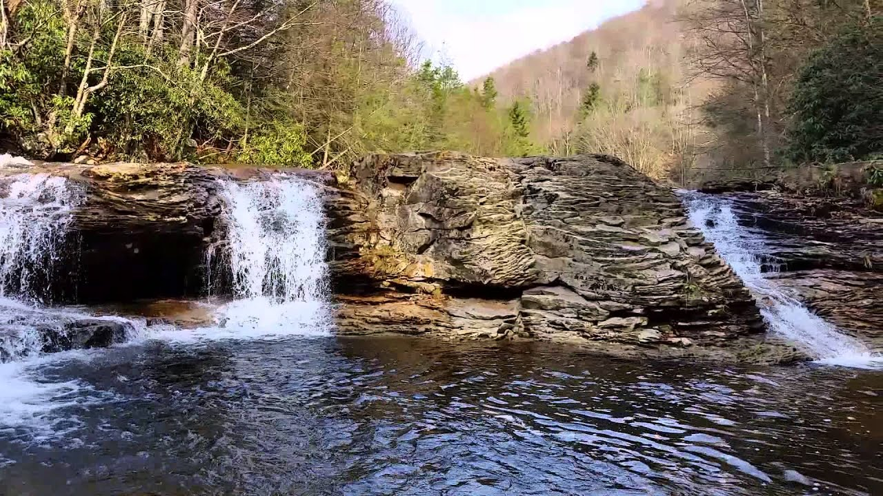 Red Creek Waterfall In Dolly Sods Wilderness Wv Youtube