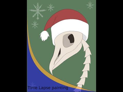 bird skeleton speedpaint