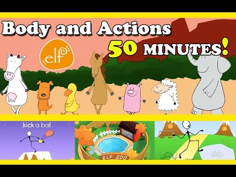 Body, Movement, Action Songs Collection for Toddlers and Kids - ELF Kids Videos - Episode #1