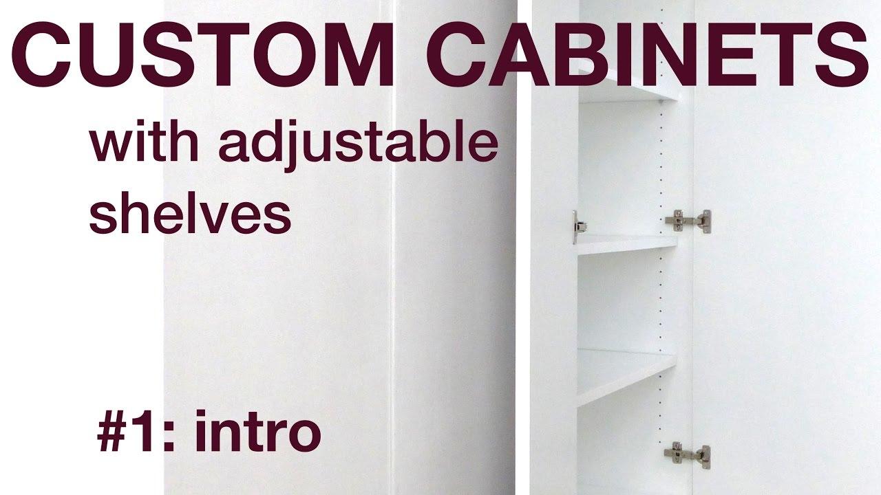 How I Make Custom Cabinets With Adjustable Shelves, P1, #022