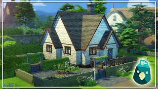 HOW I BUILT THE VILLAGE STARTER IN THE SIMS 4 COTTAGE LIVING!