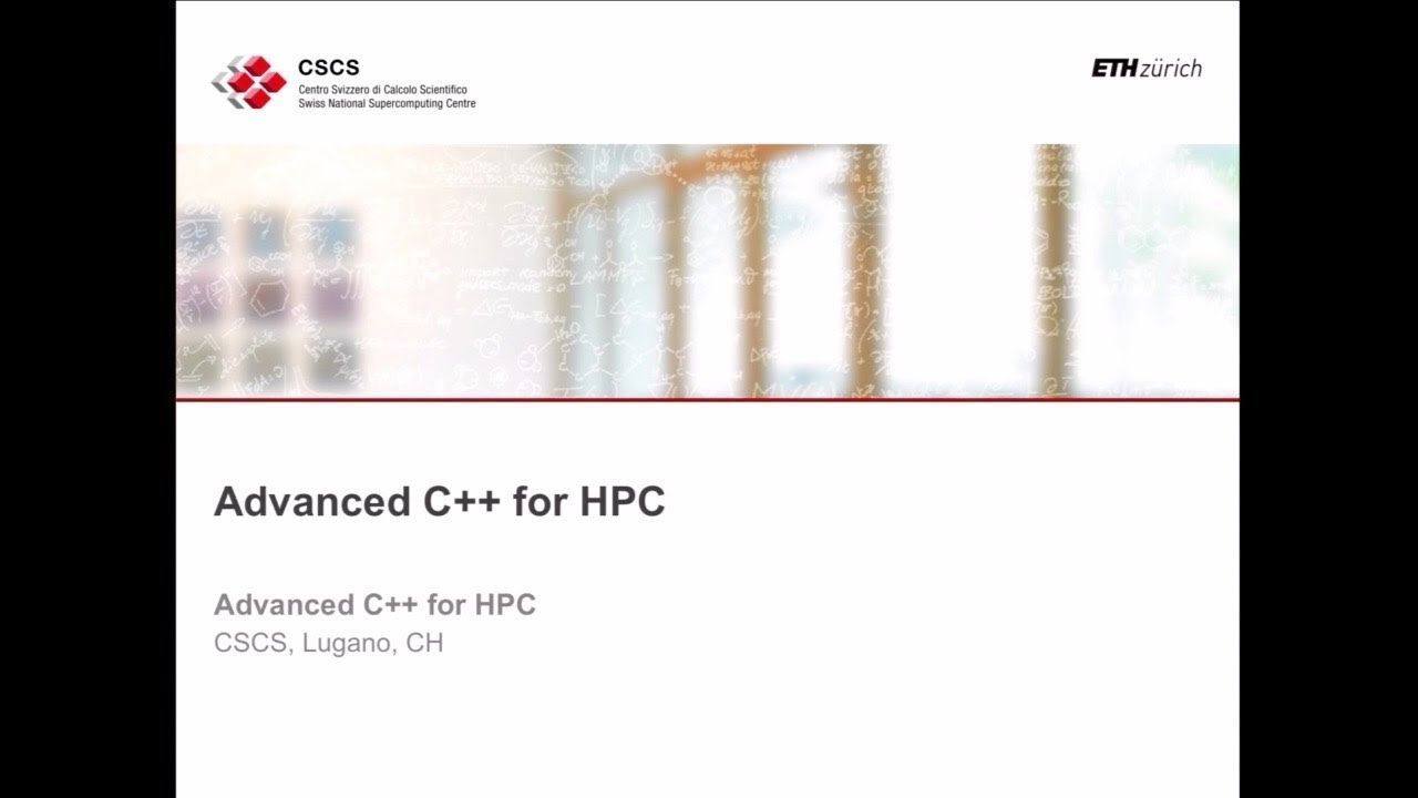01 Advanced C++ for HPC. Bianco, part one