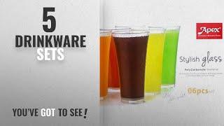 Top 10 Drinkware Sets [2018]: Apex 6 Pcs. Unbreakable Stylish Transparent Glass Set | ABS Poly