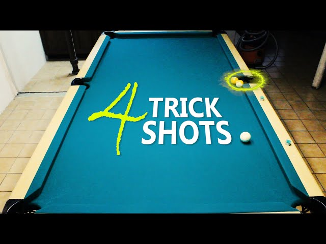 4 Pool Trick Shots: Volume 23