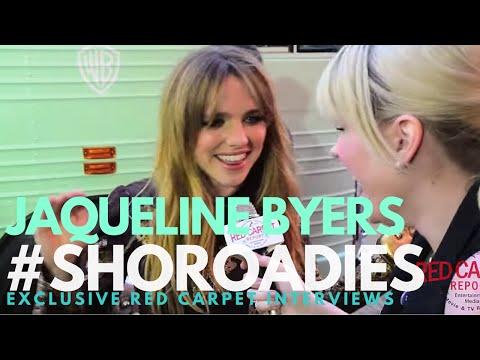 Jacqueline Byers interviewed at the premiere of Showtime's Roadies #RoadiesPremiere #SHORoadies