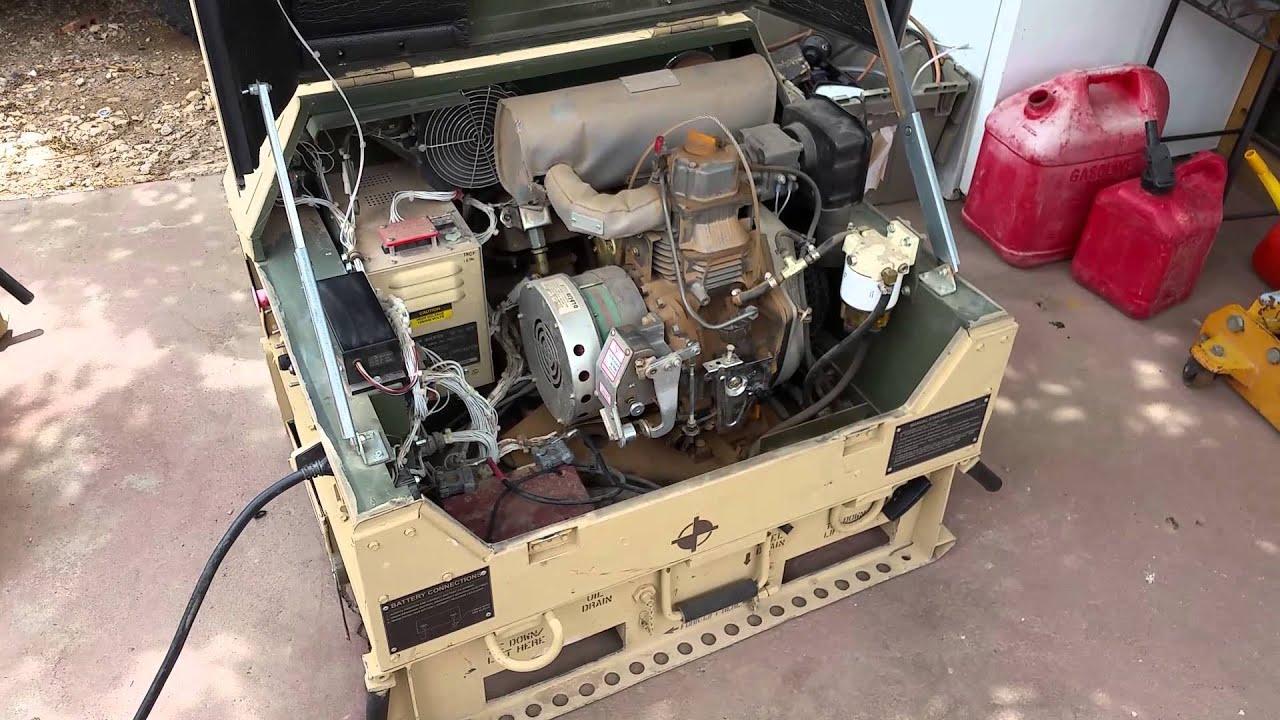 Military Diesel Generator Test