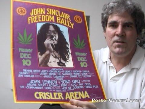 John Lennon Concert Poster 1971 John Sinclair Freedom Rally