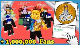 Buying the Infinite Team Gamepass in Roblox Fame Simulator *35,000 Robux*