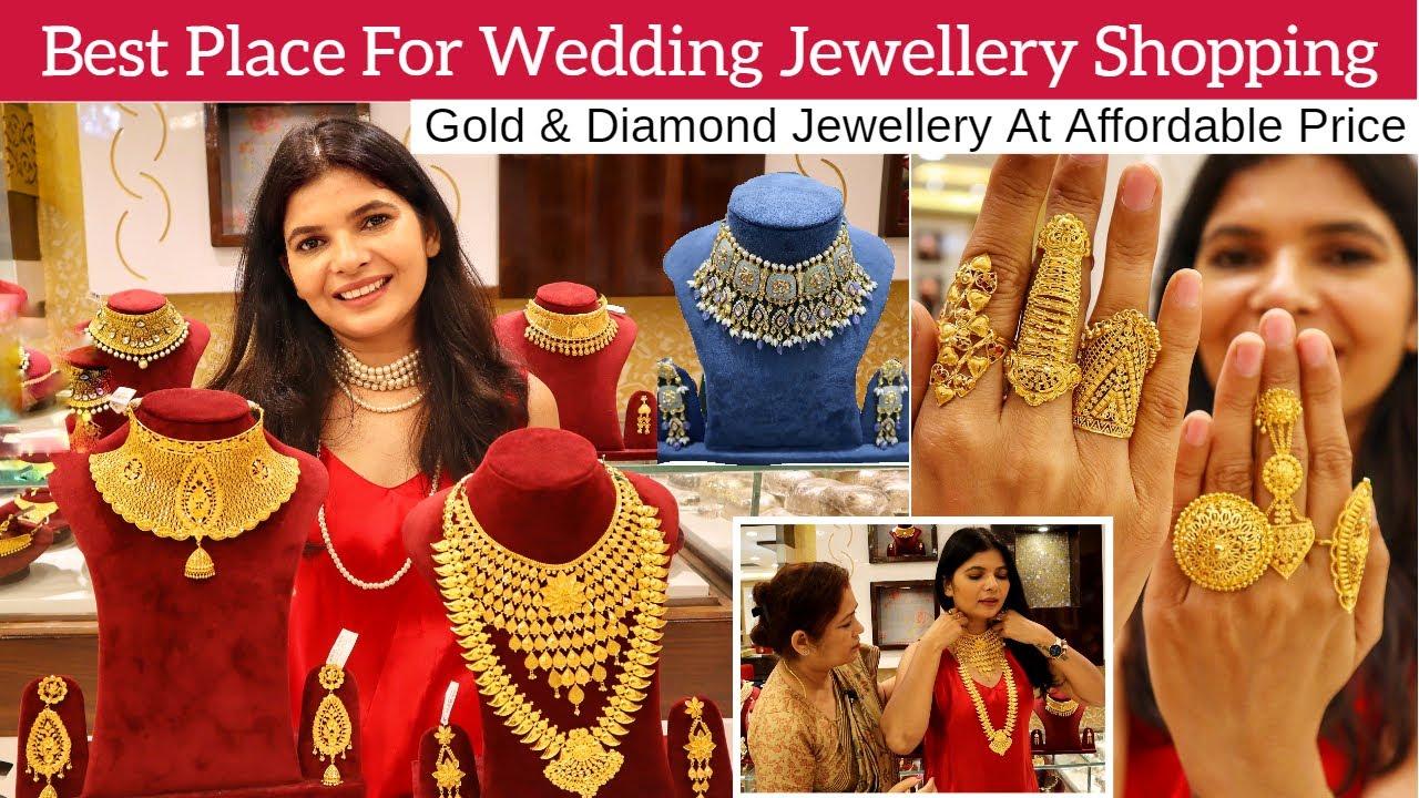 Gold & Diamond Jewellery Shopping At Affordable Price   Bridal Choker Set & Rings  Lajpat Nagar