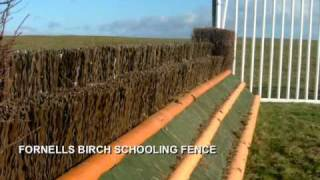 SafTfence Steeplechase Plastic Birch and Fence Presentation