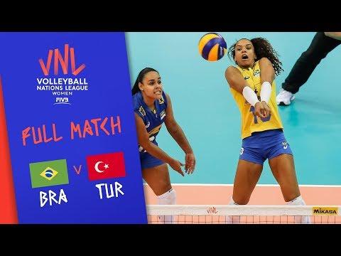 Brazil v Turkey - Full Match - Semi Final | Women's VNL 2018