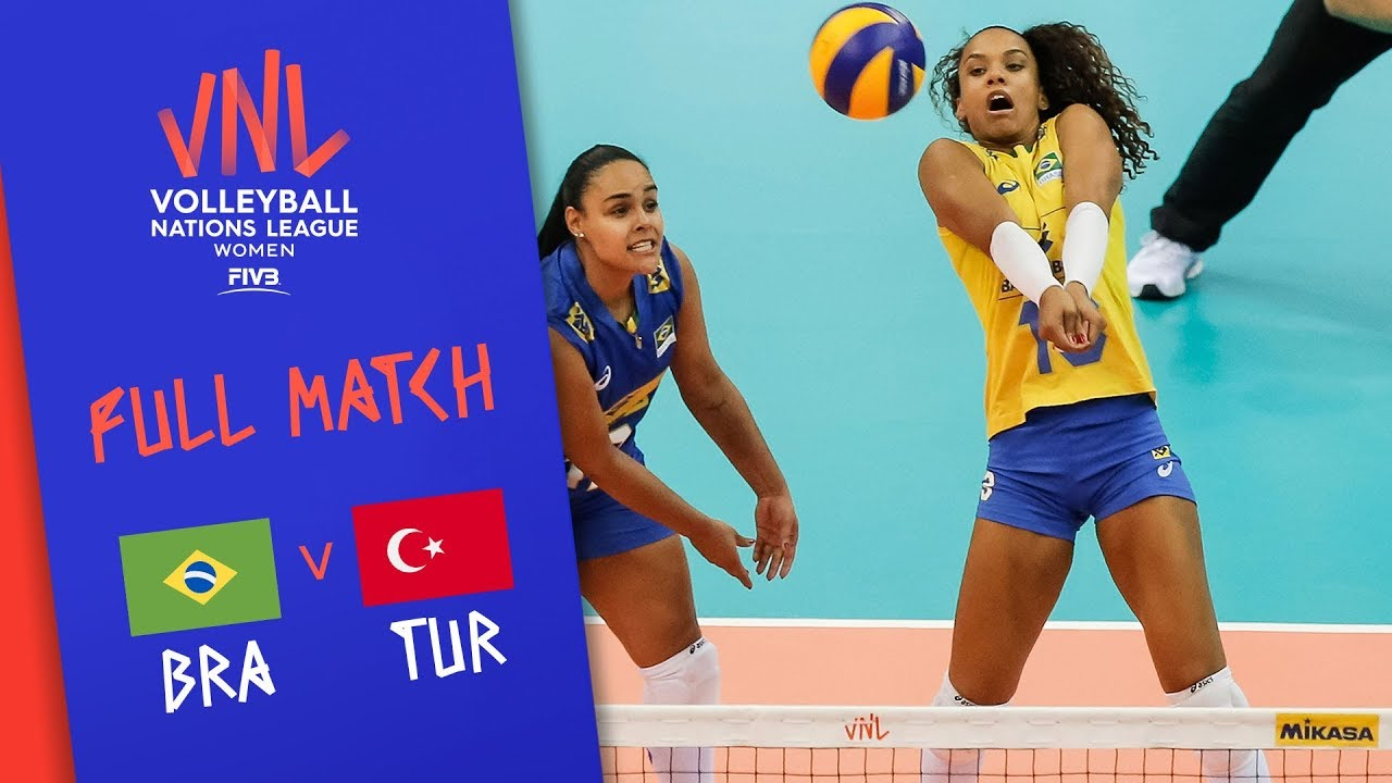 Brazil v Turkey - Full Match - Semi Final | Women's VNL 2018