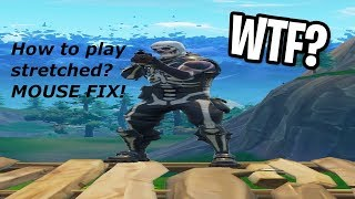 How to play stretched (custom resolution) in Fortnite (MOUSE BUG FIX)