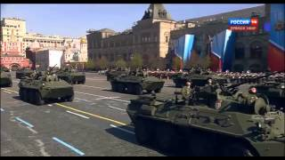 Русские идут! -  Russian military equipment on the Red Square.