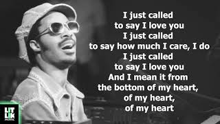 Stevie Wonder I Just Called To Say I Love You Lyrics Youtube