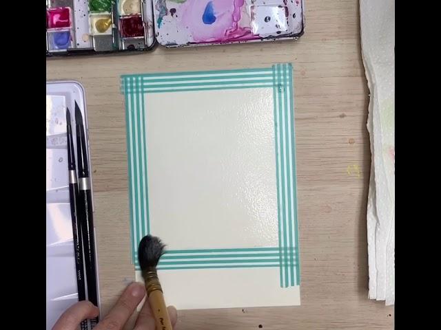 Watercolor Polaroid - Dreamy Landscape by Zoe Wu JY